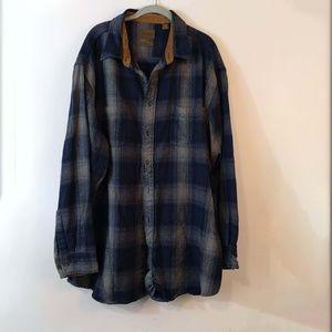 St. John's Bay Plaid Flannel Button Down Shirt